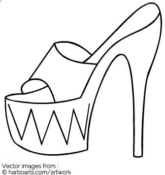 335x355 Download Stripper Shoe Outline