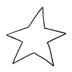 288x288 Black Star Outline Free Clipart Images