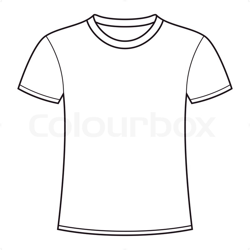 create a t shirt template - outline of a t shirt template free download best outline