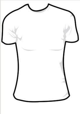 275x390 Girl's T Shirt Template Anthony Libonati