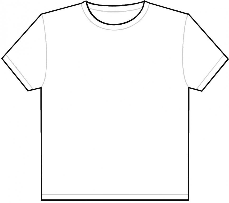 964x857 T Shirt Outline Template Online Calendar Templates