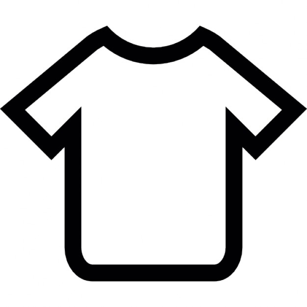 626x626 T Shirt Outline Icons Free Download