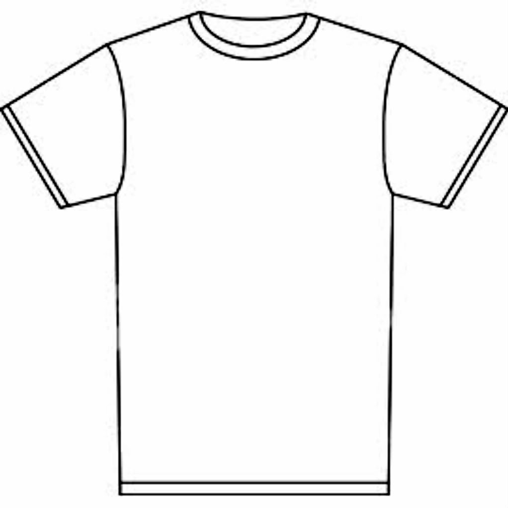 Outline Of A T Shirt Template Free Download Best Outline Of A T