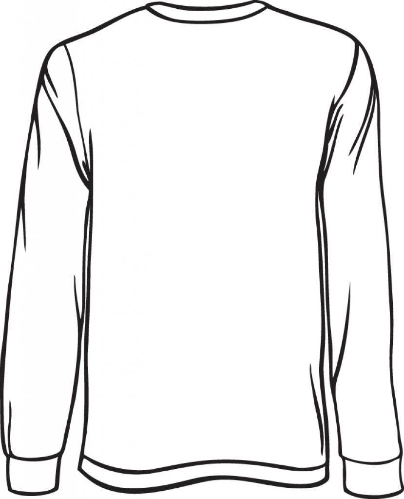 829x1024 T Shirt Template Long Sleeve Shirt Clipart