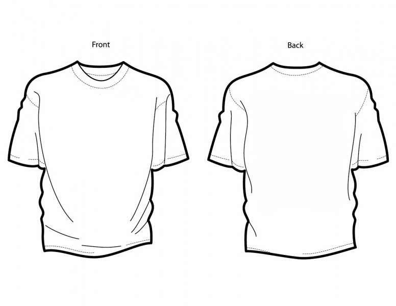08b58521 Outline Of A T Shirt Template | Free download best Outline Of A T ...