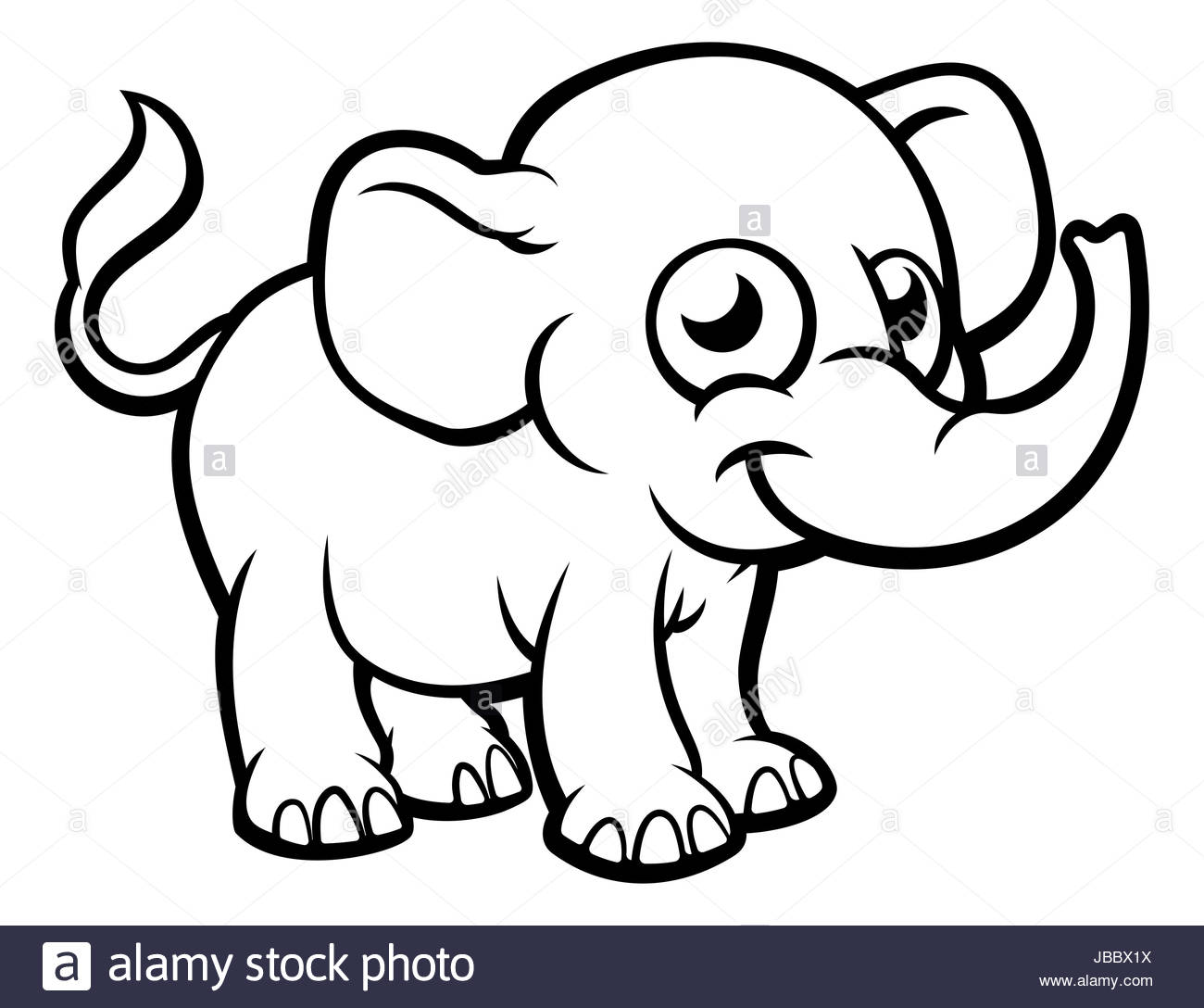 Outline Of An Elephant