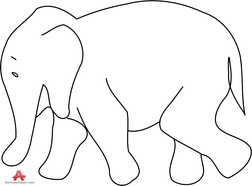 Outline Of An Elephant | Free download best Outline Of An Elephant