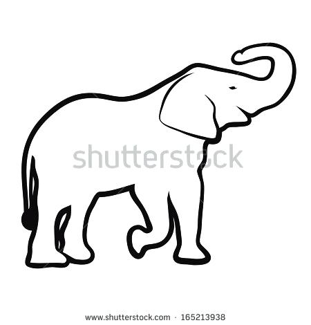 450x470 Simple Elephant Outline Elephant Outline Vector Simple Elephant