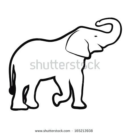 450x470 Simple Elephant Outline Elephant Outline Vector Simple Elephant