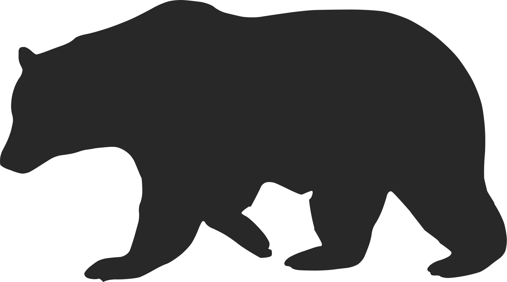 1615x900 Outline Of Bear Clipart