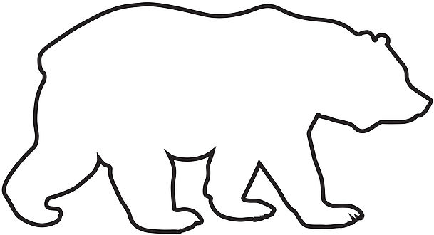 609x330 Perfect Outline Of A Bear 11 With Additional Free Coloring Kids