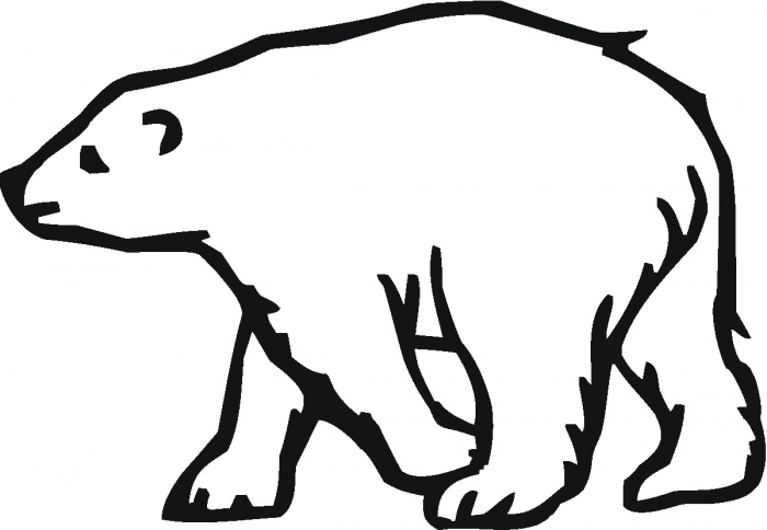 700x484 Polar Bear Outline Google Search Tattoos Polar Clipart Image