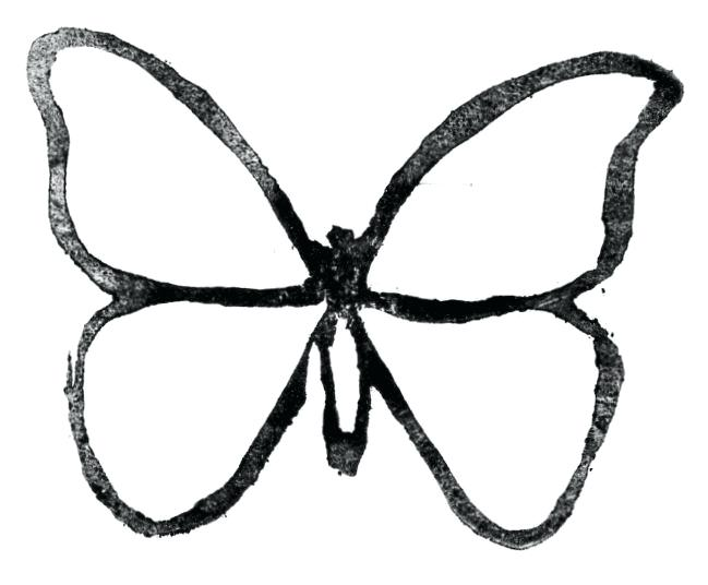 649x536 Brilliant Amazing Printable Butterfly Outline Free Download