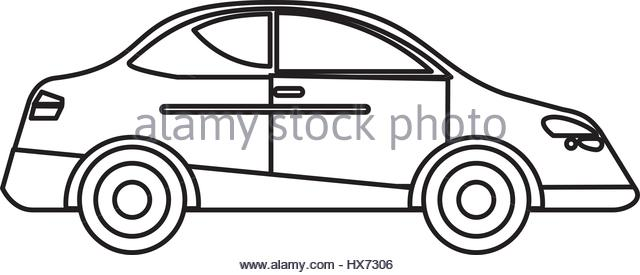 640x275 Car Sedan Vehicle Transport Outline Stock Photos Amp Car Sedan