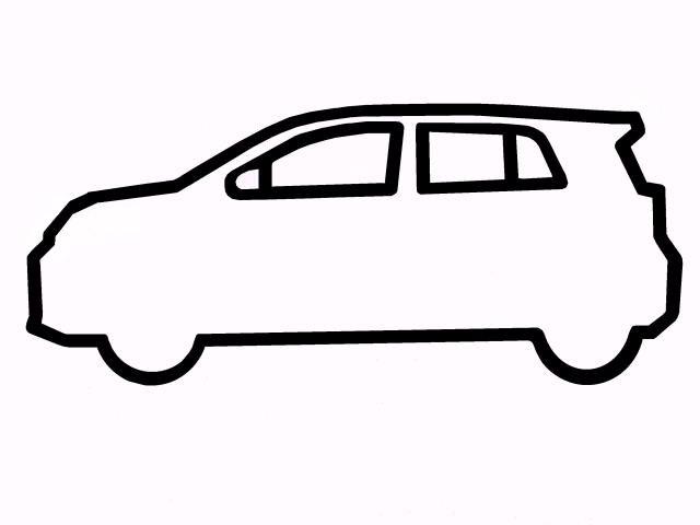 640x480 Car Outline Clipart