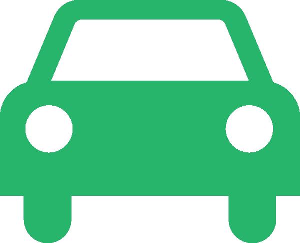 600x485 Green Car Outline Clip Art