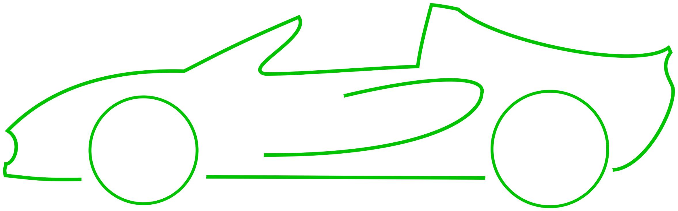 2355x735 Outline Of Car