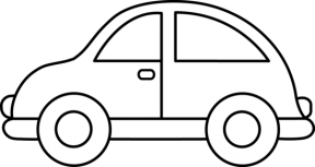 288x153 Car Outline Clipart Png