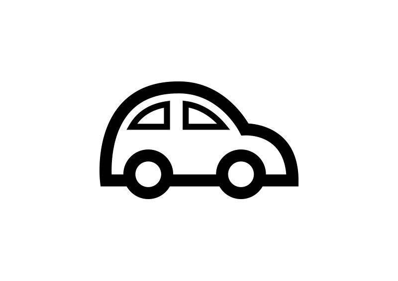 800x566 Car Outline Free Vector Icon
