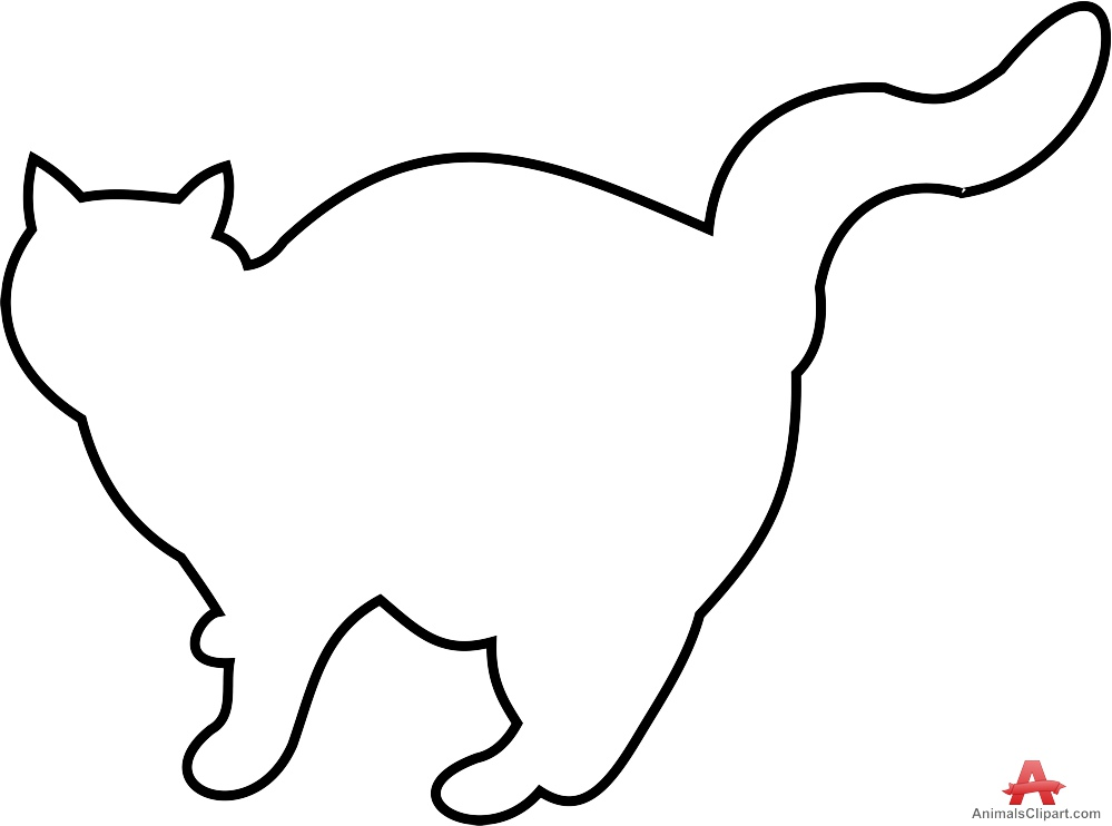 Outline Of Cat | Free download on ClipArtMag