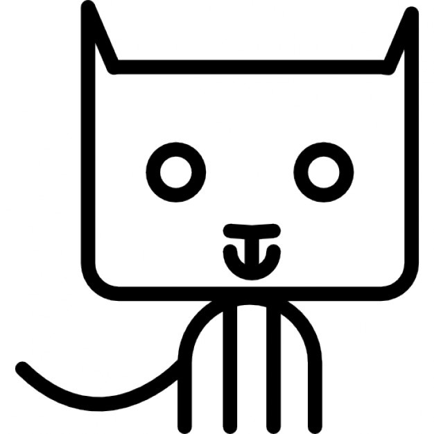 626x626 Cat Outline Vectors, Photos And Psd Files Free Download