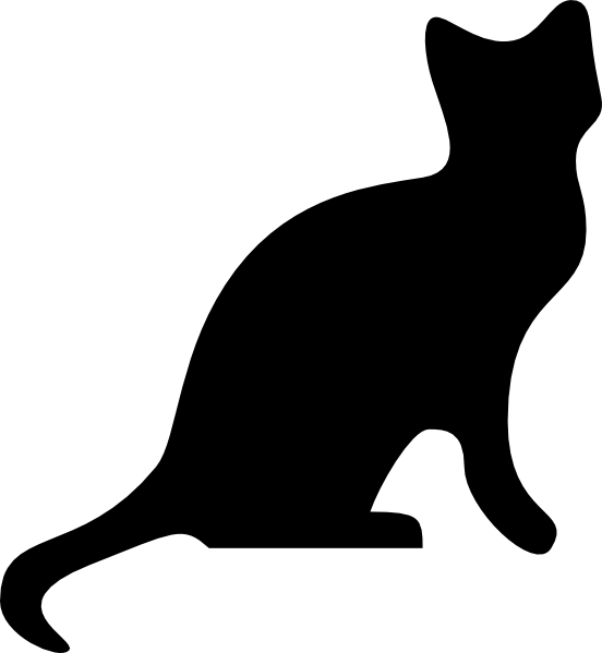 552x599 Cat Silhouette Outline