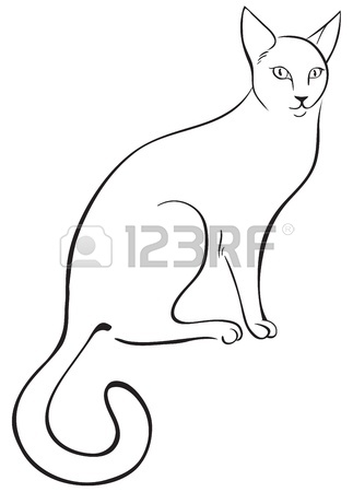 323x450 Outline Cat Royalty Free Cliparts, Vectors, And Stock Illustration