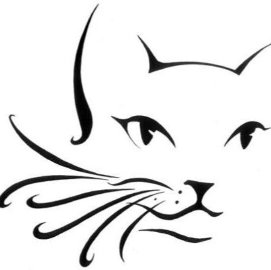 539x536 Cat Outline