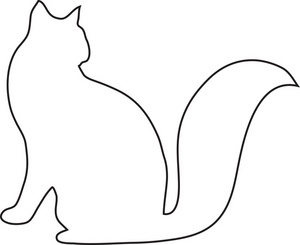 300x245 Of A Cat Clipart