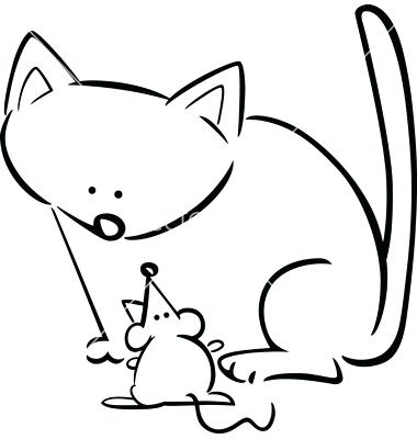 380x400 Cat Clipart Cat Coloring Pages Here Is A Small Collection Of Cute