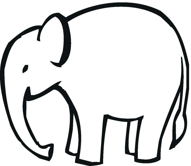 Outline Of Elephant Face | Free download on ClipArtMag