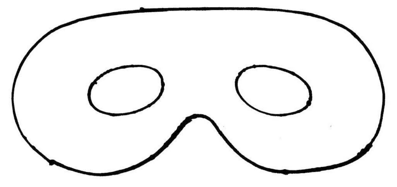 This is a photo of Old Fashioned Mask Template Printable