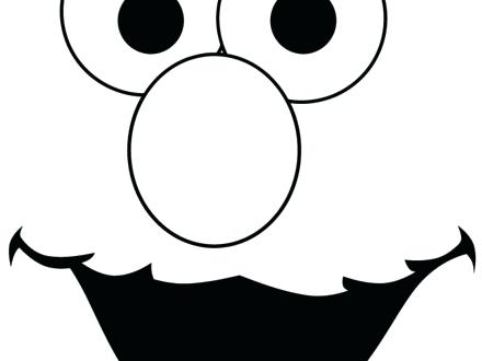printable elmo cake template - outline of face template free download best outline of