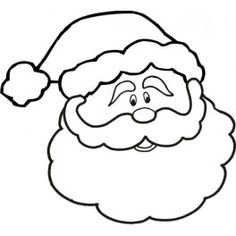 236x236 Santa Father Christmas Outline Picture Template Throughout Father
