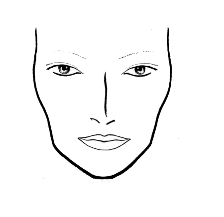 450x436 Face Chart  Printable Blank Face