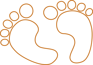 299x210 Footprint Outline Clipart