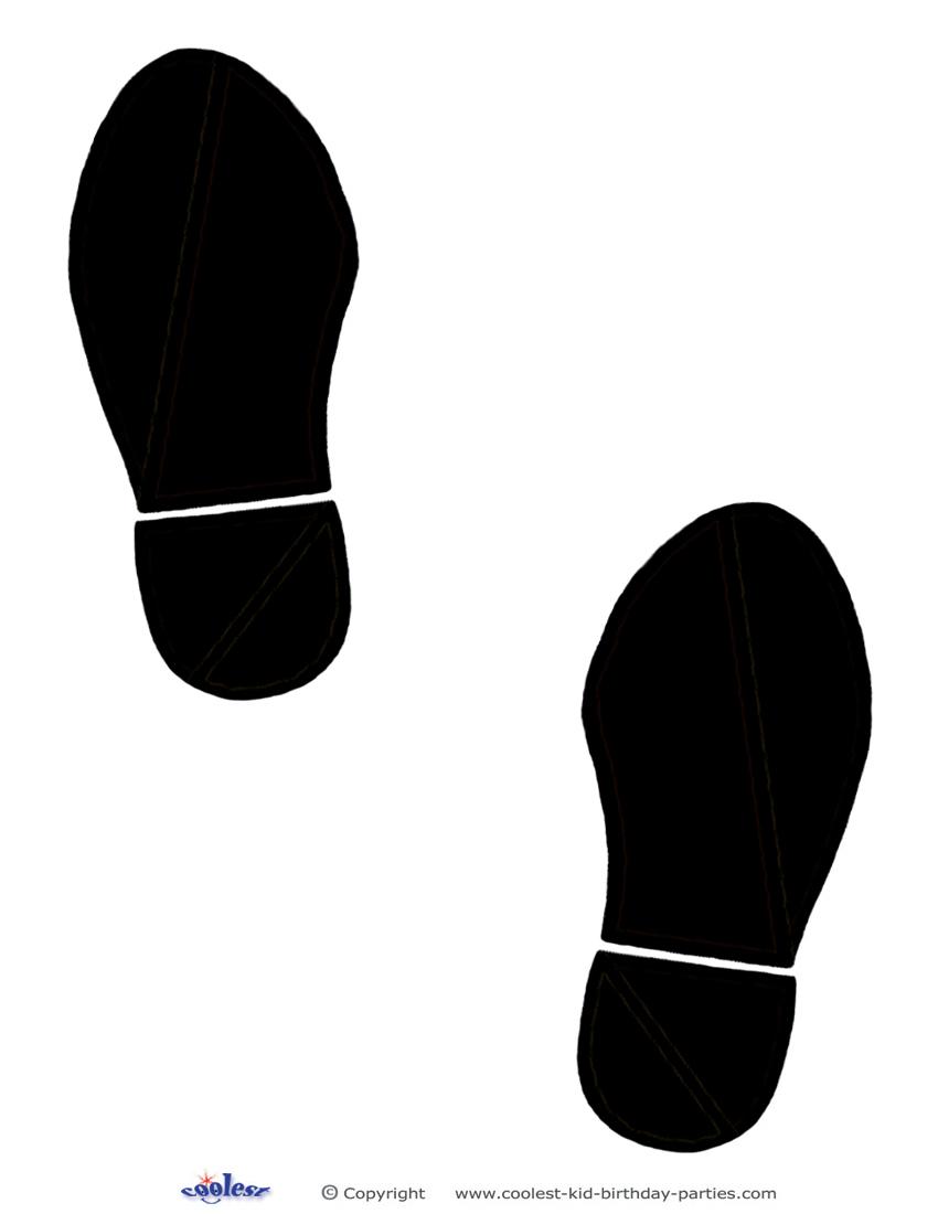 850x1100 Human Footprint Clipart