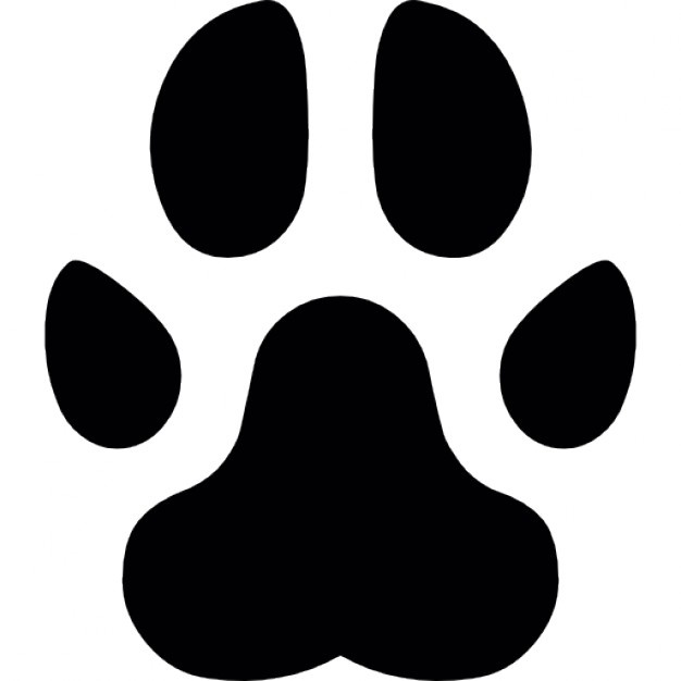 626x626 Paw Footprint Outline Of A Feline Animal Icons Free Download