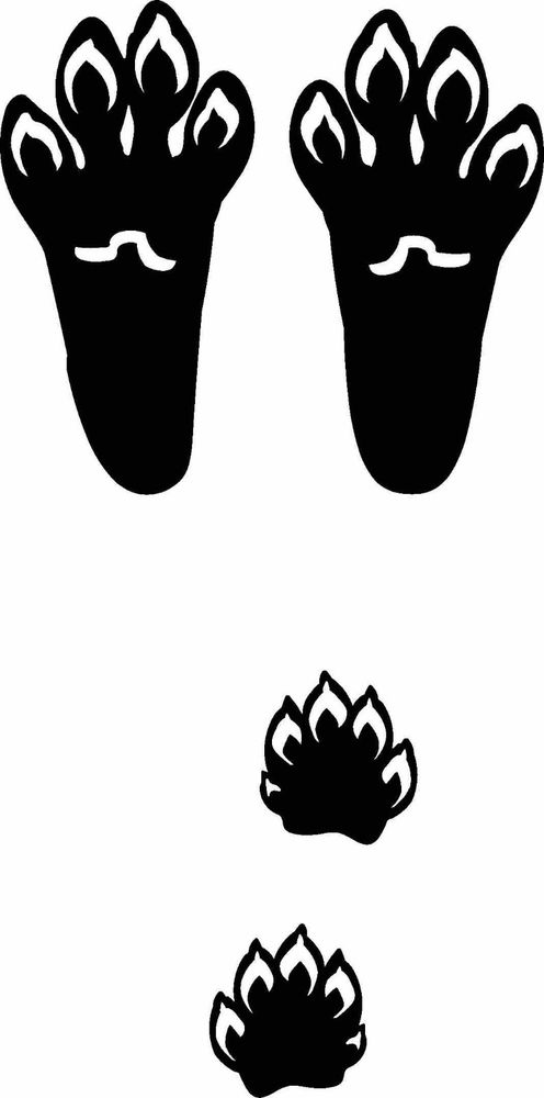 496x1000 Rabbit Track Outline Clipart Collection