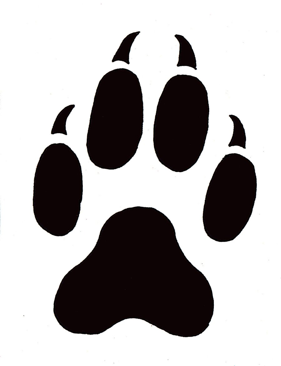 900x1171 Wolf Footprint Clipart