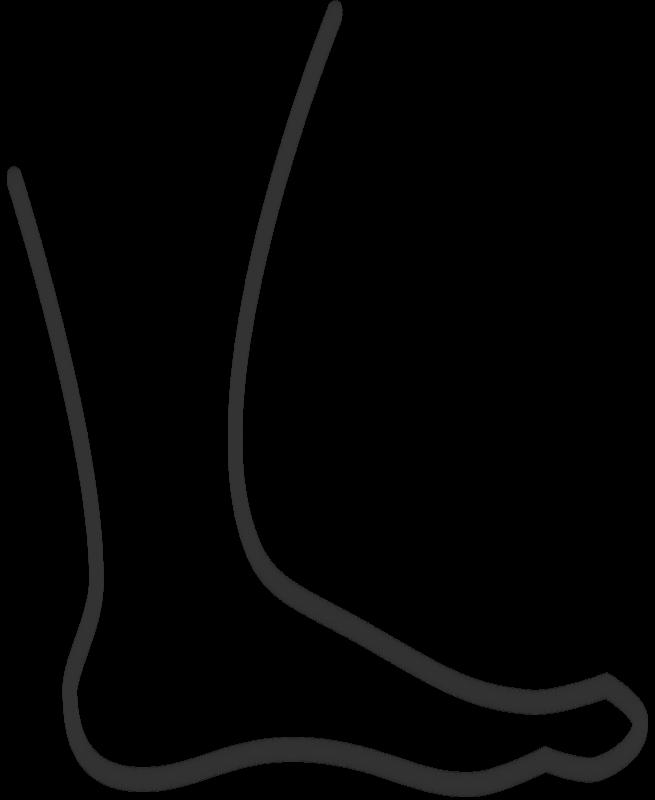 655x800 Barefoot Clipart Footprint Outline