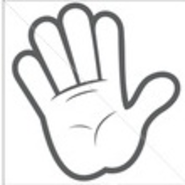 600x600 Hand Clipart Cartoon