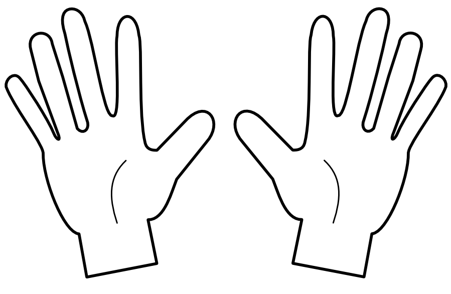 899x586 Hand Clipart Five Finger