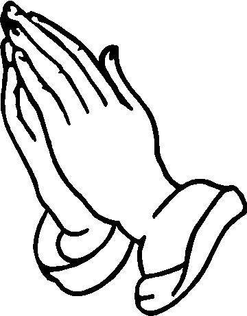 360x461 Praying Hand Outline Clipart