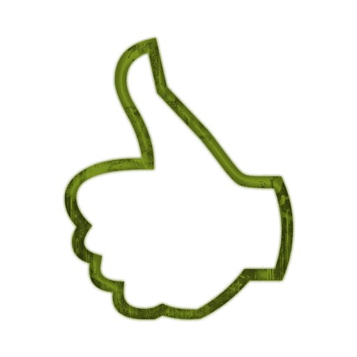 512x512 Thumbs (Thumb) Up Outline Hand Icon