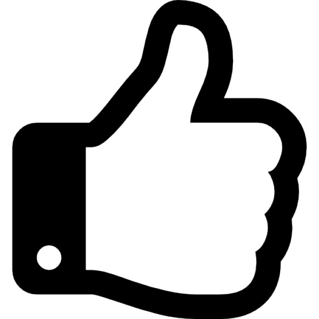626x626 Thumbs Up Hand Outline Icons Free Download