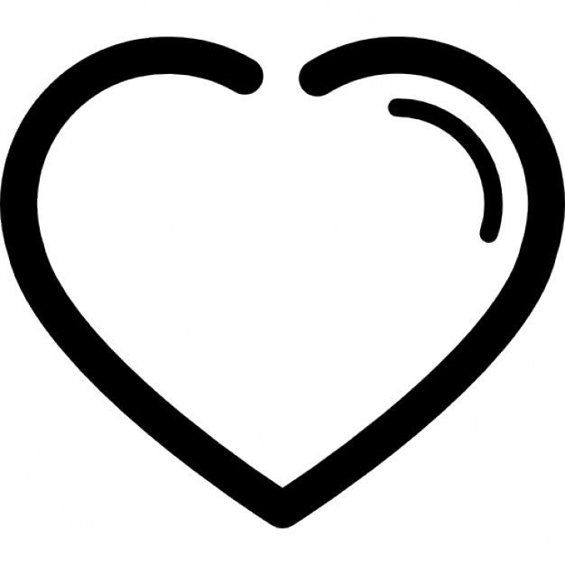 626x626 Heart Outline Outline Of A Heart Symbol Clipart