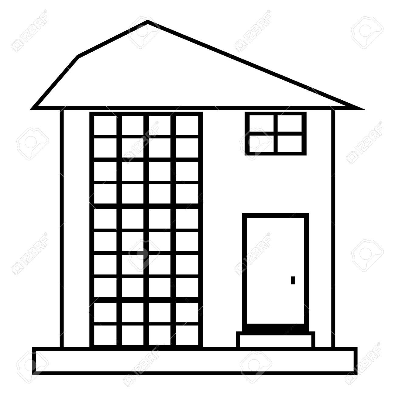 1300x1300 High House Icon. Outline Illustration Of House Vector Icon