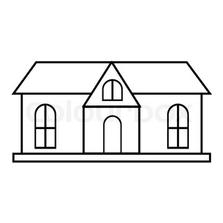 320x320 House With Garage Icon. Outline Illustration Of House Vector Icon