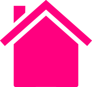 298x282 Pink House Outline Clip Art